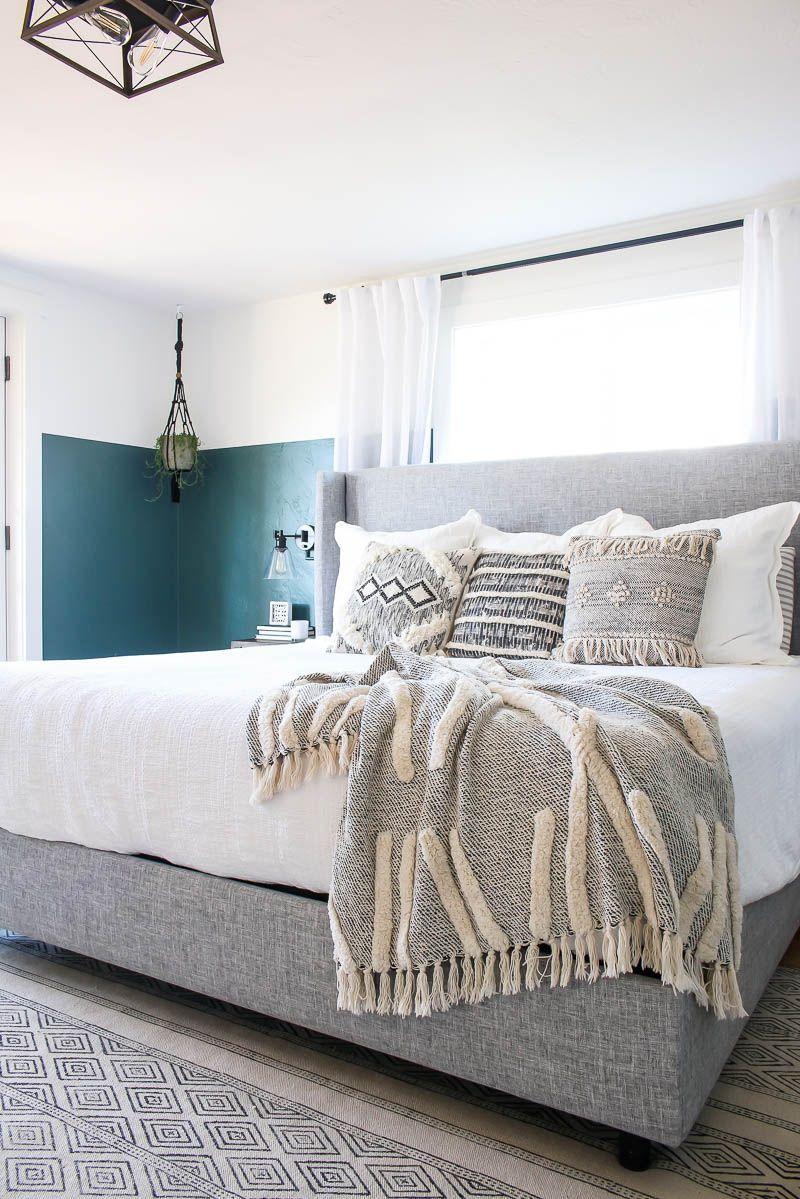 Modern Boho Bedroom Mood Board And Reveal Making Manzanita Modern Boho Bedroom Boho Master Bedroom Bedroom Design