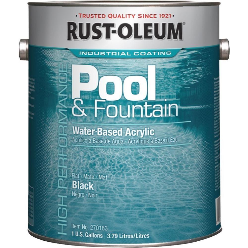 Rust Oleum 1 Gal Black Acrylic Pool