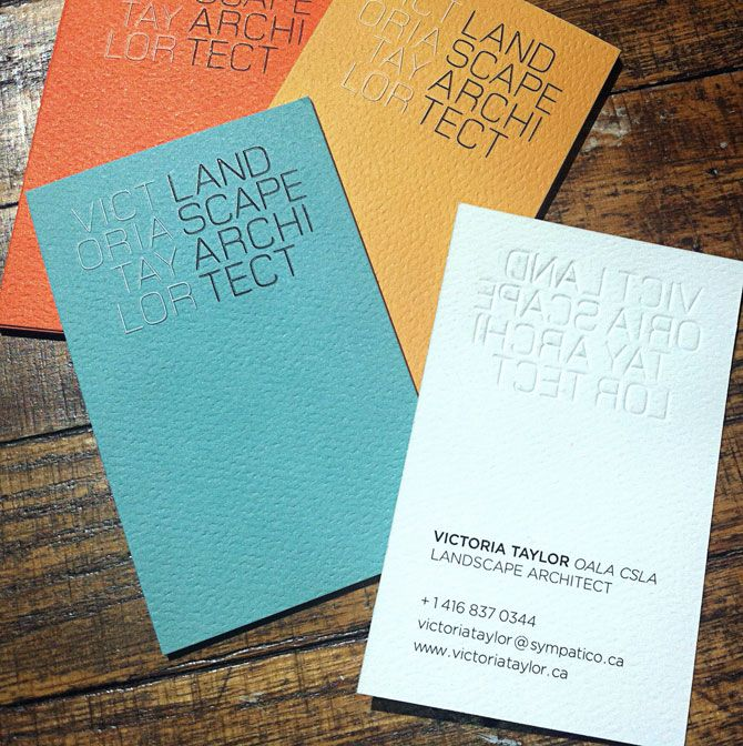 Architect Cards victoria taylor landscape architect logo & business cards - push