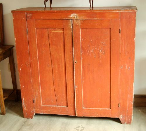 1800s Primitive Farmhouse Painted Jelly Cabinet Cupboard Cabinet Pie Safe Primitive Painted Furniture Jelly Cabinet Primitive Decorating