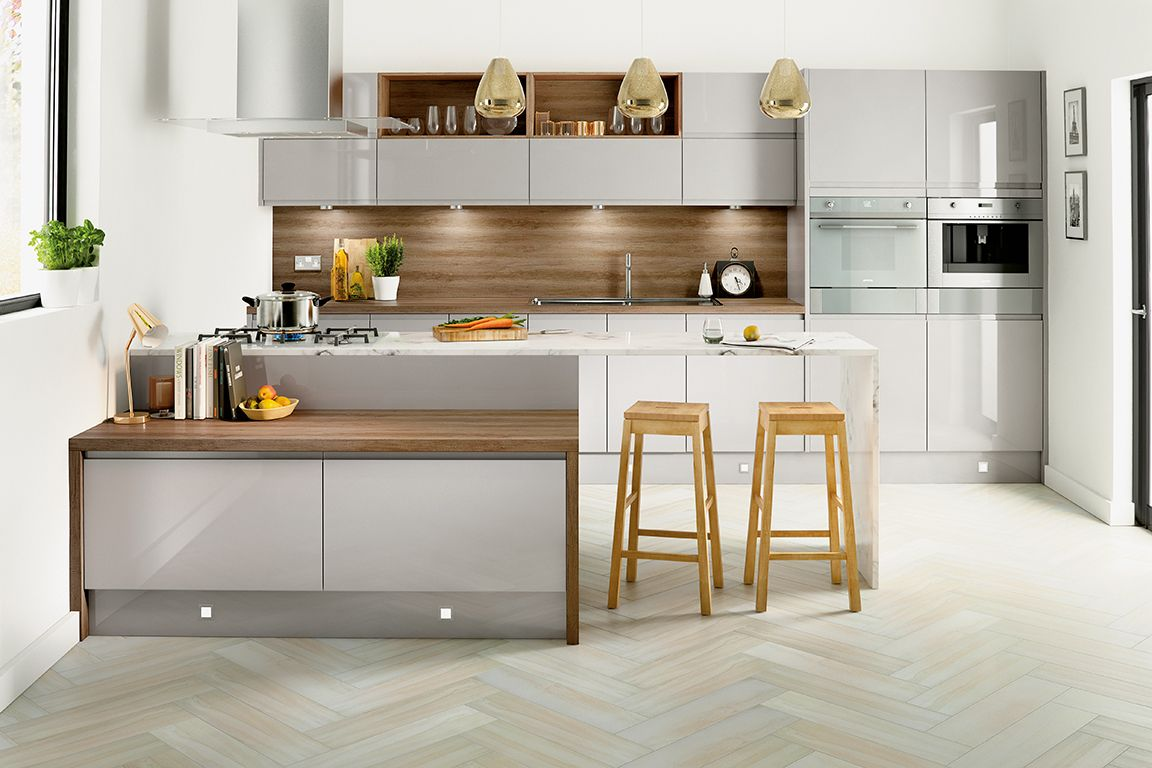 Homebase Kitchen Flooring Hygena Arletta Grey Kitchen New Year New Kitchen Pinterest