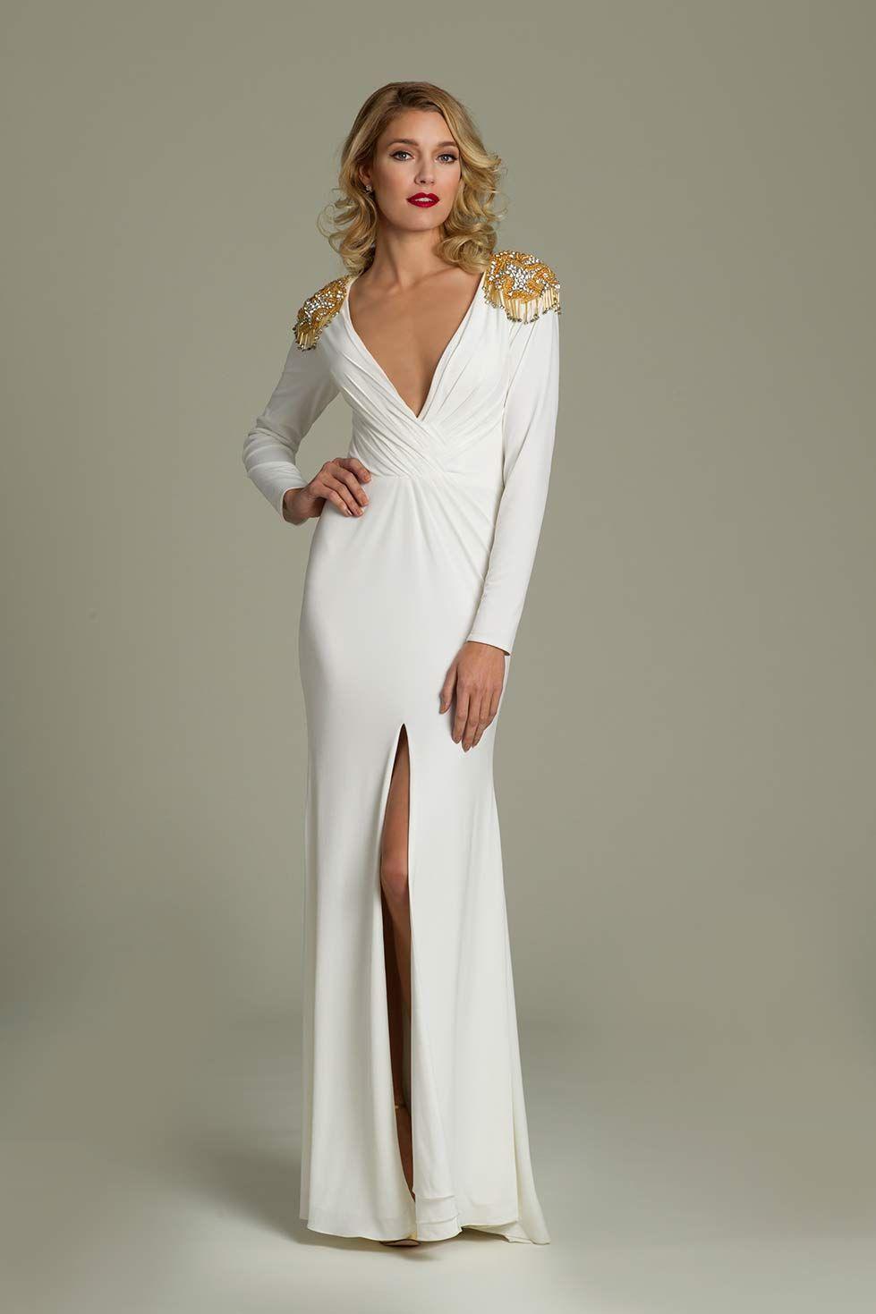 V-neck Jersey Jovani Dress | Joanna -Kruppa;-Mastroianni;Jovani ...