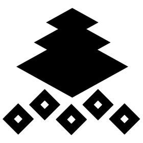 三好長慶の家紋(三階菱に釘抜)(画像あり) | 家紋, 菱, 和 ロゴ