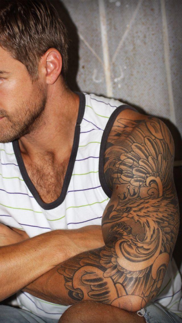 Falcon 3 4 Sleeve Tattoos For Guys Sleeve Tattoos Half Sleeve Tattoos For Guys