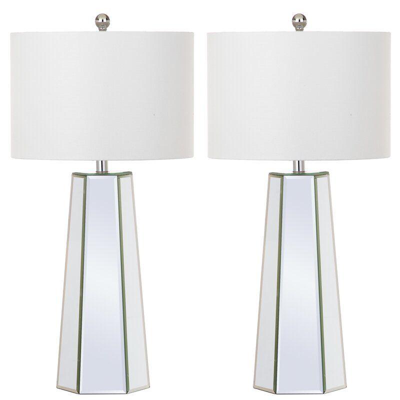 Mya 32 Table Lamp Set In 2020 Clear Table Lamp Mirror Table Lamp Table Lamp Sets