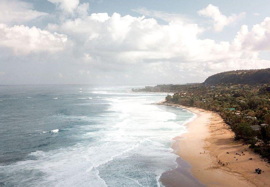 26 Pemandangan Pantai Hawaii Alam Air Di Luar Rumah Laut Samudra Garis Pantai Download Xiaofa 2019 3d Cetak Wanita Pria Di 2020 Pantai Gelombang Laut Pemandangan
