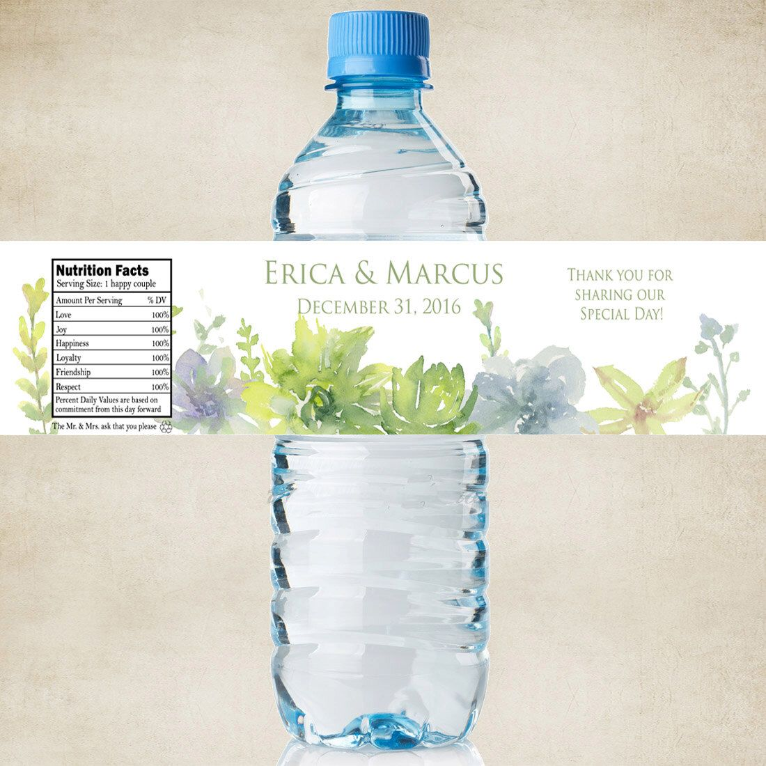 Personalized Water Bottle Labels - 100% Waterproof Polyester Labels ...