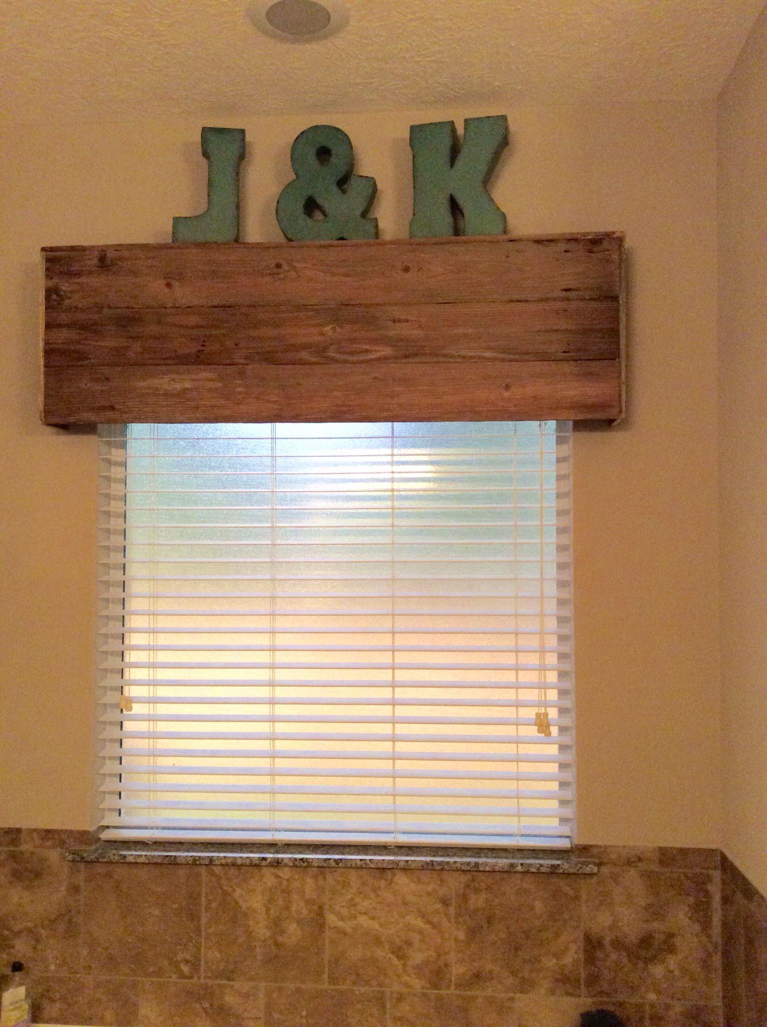 Reclaimed Wood Fence Cornice Wood Valances For Windows Wood