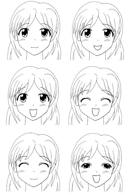 Sekai 39 s blog apprendre dessiner manga tutoriel manga les expressions faciales des femmes - Comment dessiner peach ...