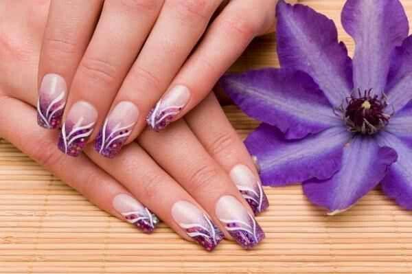 Purple Nail Art Pinterest