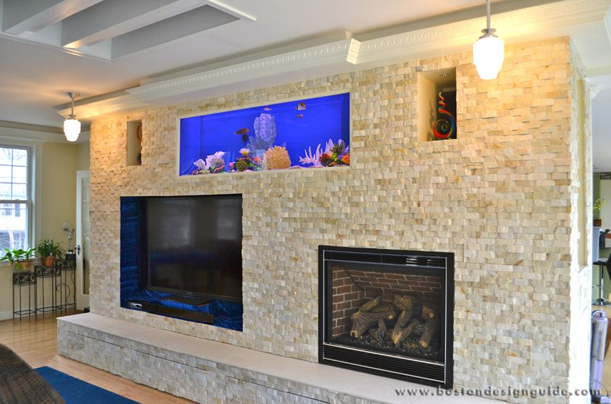 Fireplace Aquarium Custom Entertainment Center