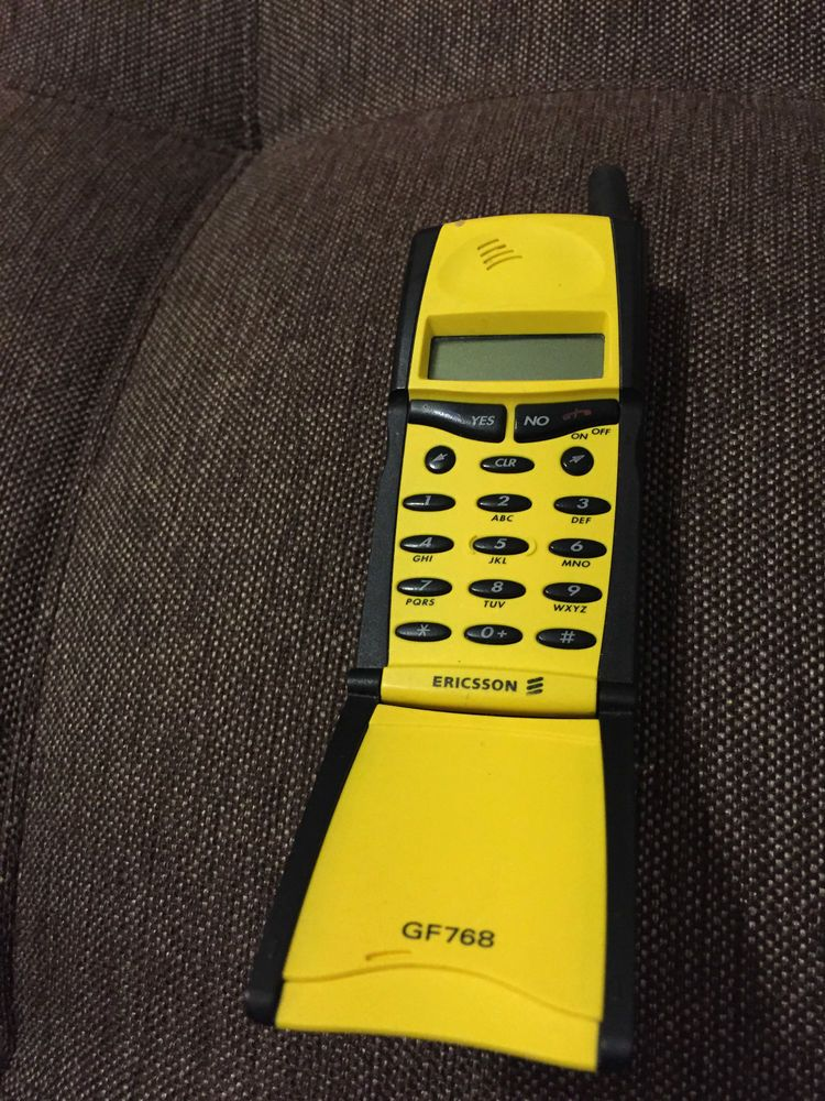 ericsson gf768 yellow unlocked cellular phone vintage