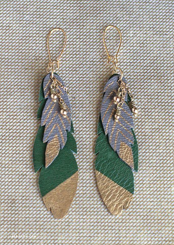 how to wear feather earrings