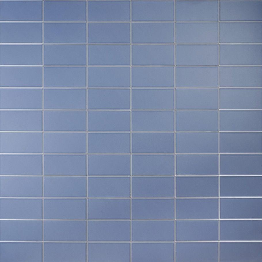 Stacy Garcia Maddox Frame Azul 4x8 Matte Ceramic Tile In