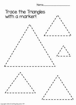 Triangle Worksheets For Kindergarten