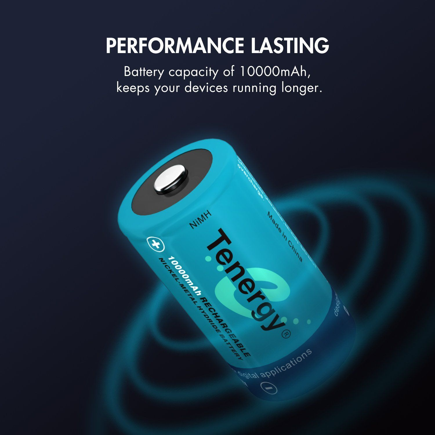 Tenergy 10000mAh NiMH 8 Pack D Batteries 34.49! (With