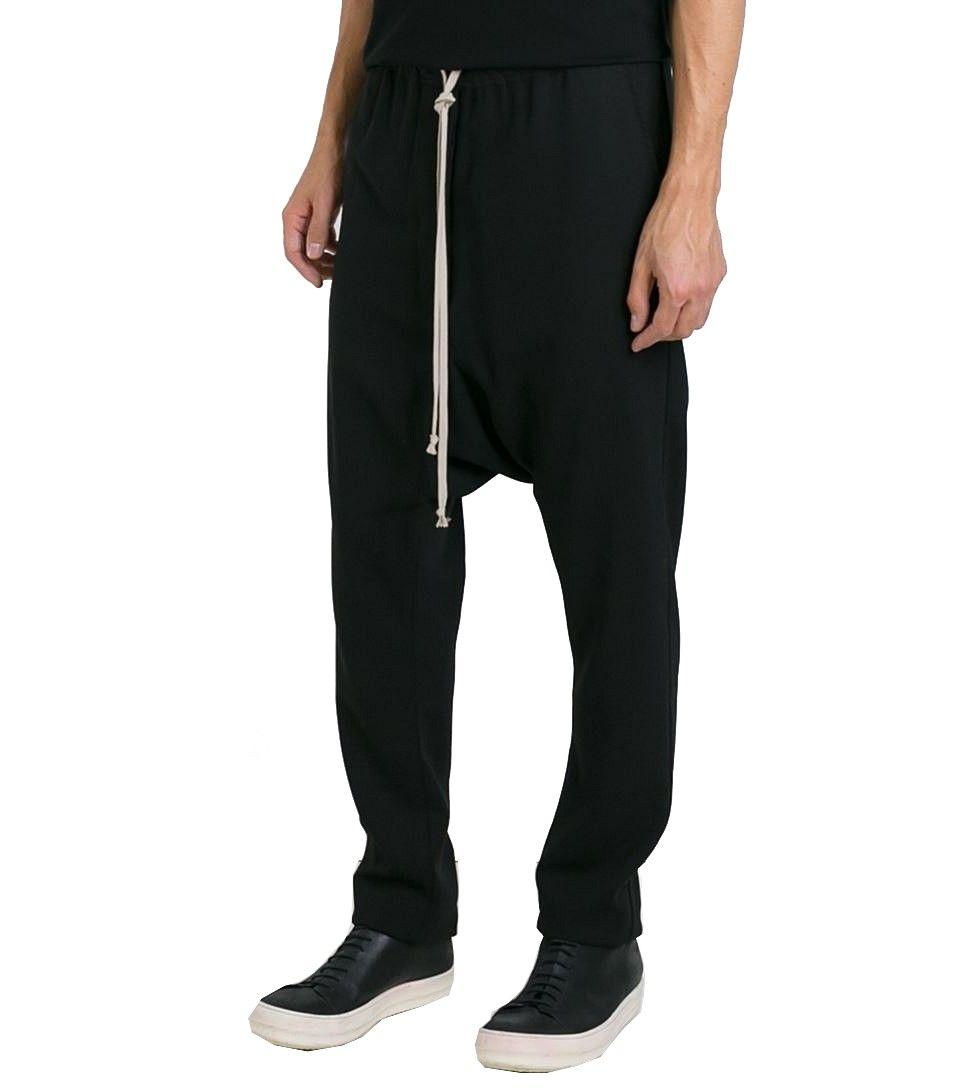 drawstring drop-crotch trousers - Grey Rick Owens b51j3z6rgn