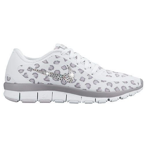 best website 99428 04bff New Womens Nike Free 5.0 V4 Print Running Shoes - WhiteWolf GreyPure