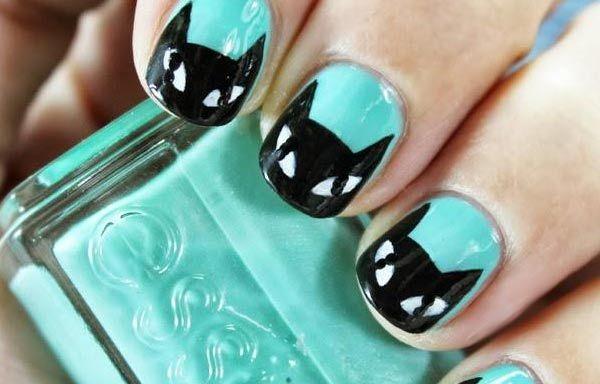 Uñas Decoradas Color Verde Menta Uñas Pinterest Nails