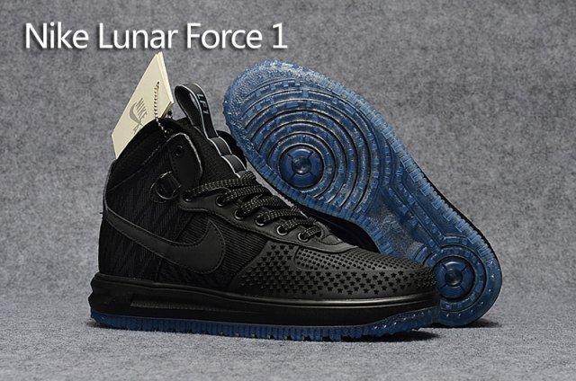 huge discount 80cae 690e2 Mens Sneakers Nike Lunar Force 1 Duckboot KPU Triple Black 805899 552
