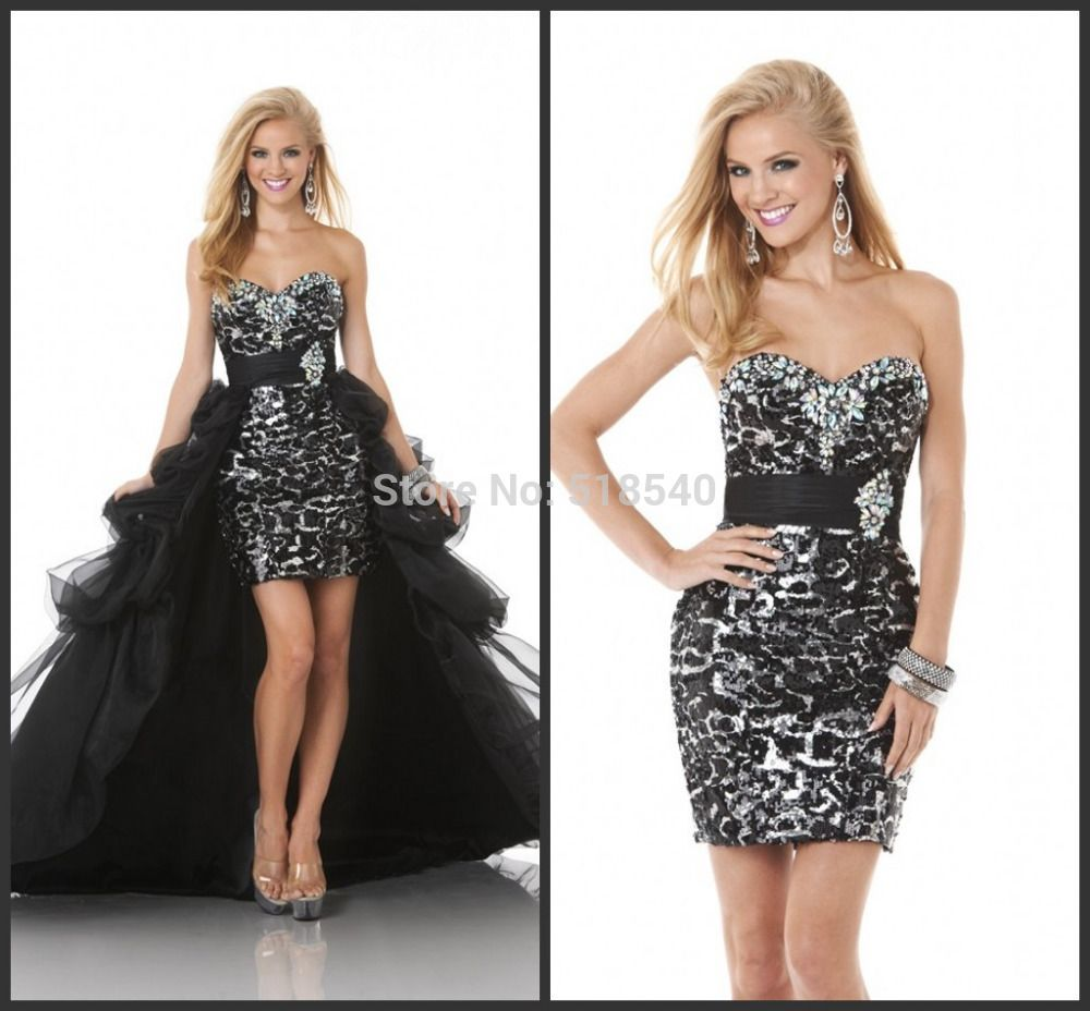 New Sexy Swwetheart Off-shoulder Delicate Crystal Beads Gorgeous Floor Length Hi-low Prom Dresses