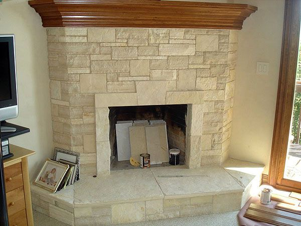 Limestone Fireplace -- colour reference -- soft beiges and sands ...
