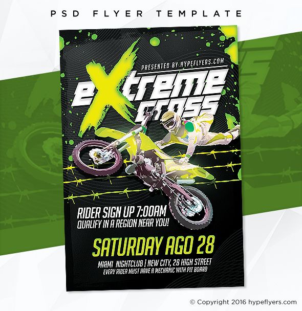 Motocross Event Flyer Template  Event Template Event Flyer