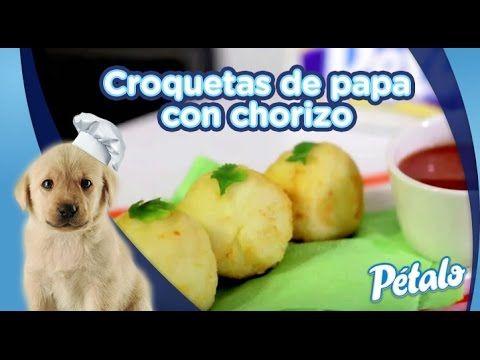 Croquetas de papa con chorizo. Tu Cocina Pétalo® - YouTube