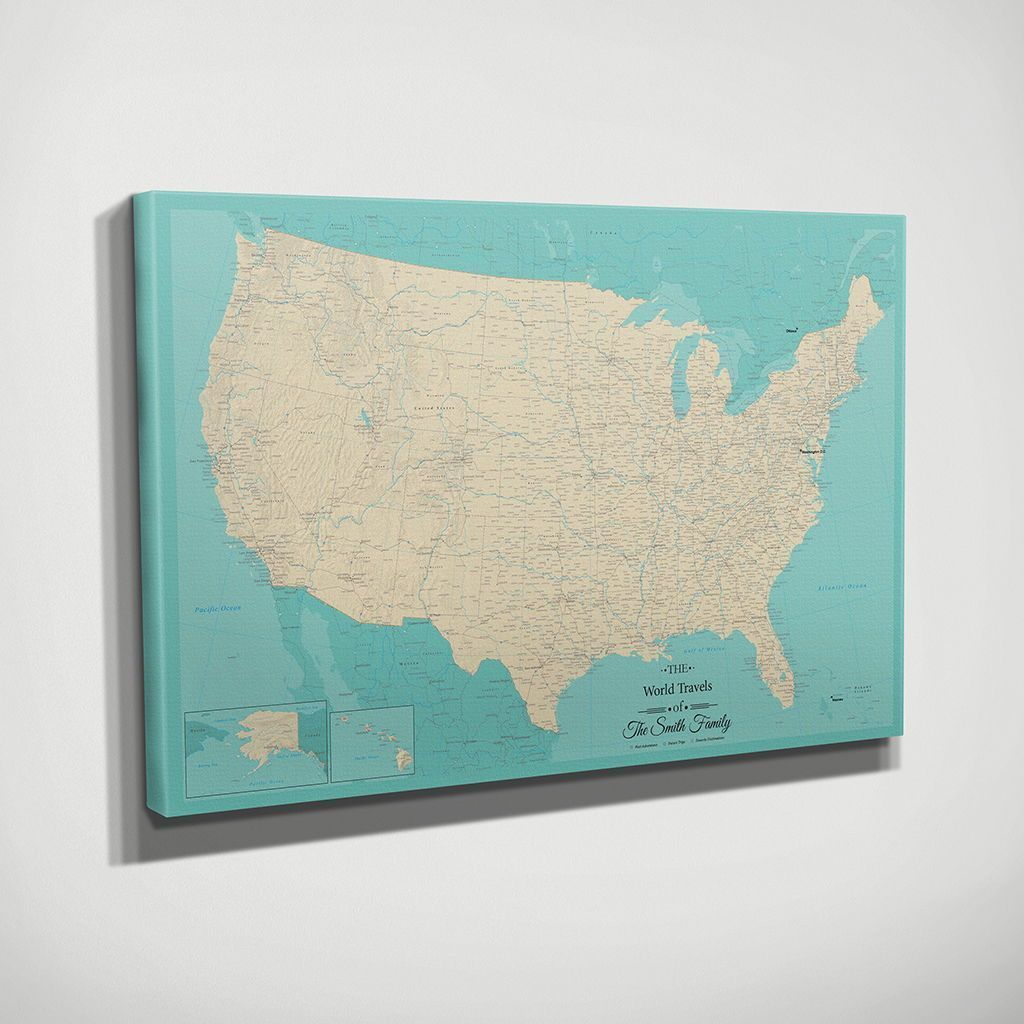 Check Off Your Bucket List Of US Travel Destinations One State At A - State check off map