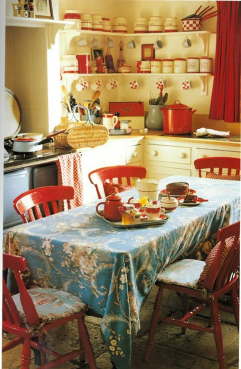 Cath Kidston Kitchen (1999) In Tips For Vintage Style