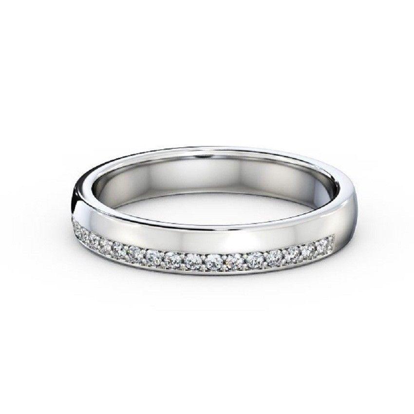 IGI Certificate Round Diamond Pave Set Half Eternity