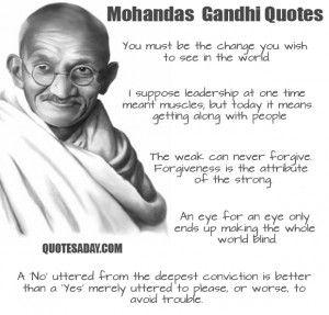 Famous Gandhi quotes