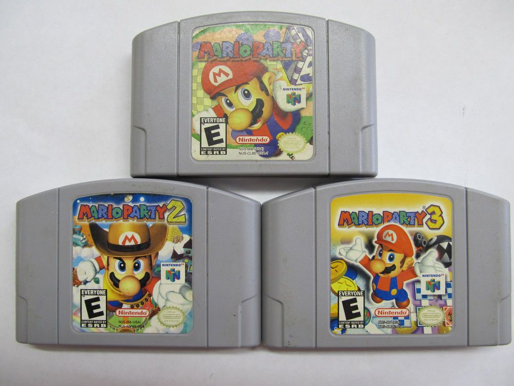 Mario party 1 2 and 3 n64 nintendo 64 mario party