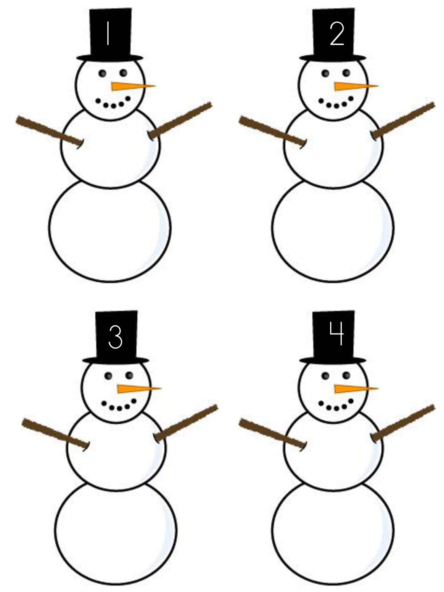 Snowman Counting 0 5