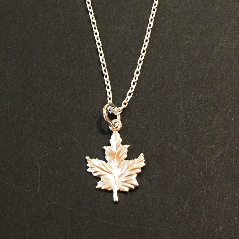 rose silver i am canadian gold maple leaf necklace we the north 9mm canadian jewelry canada fashion