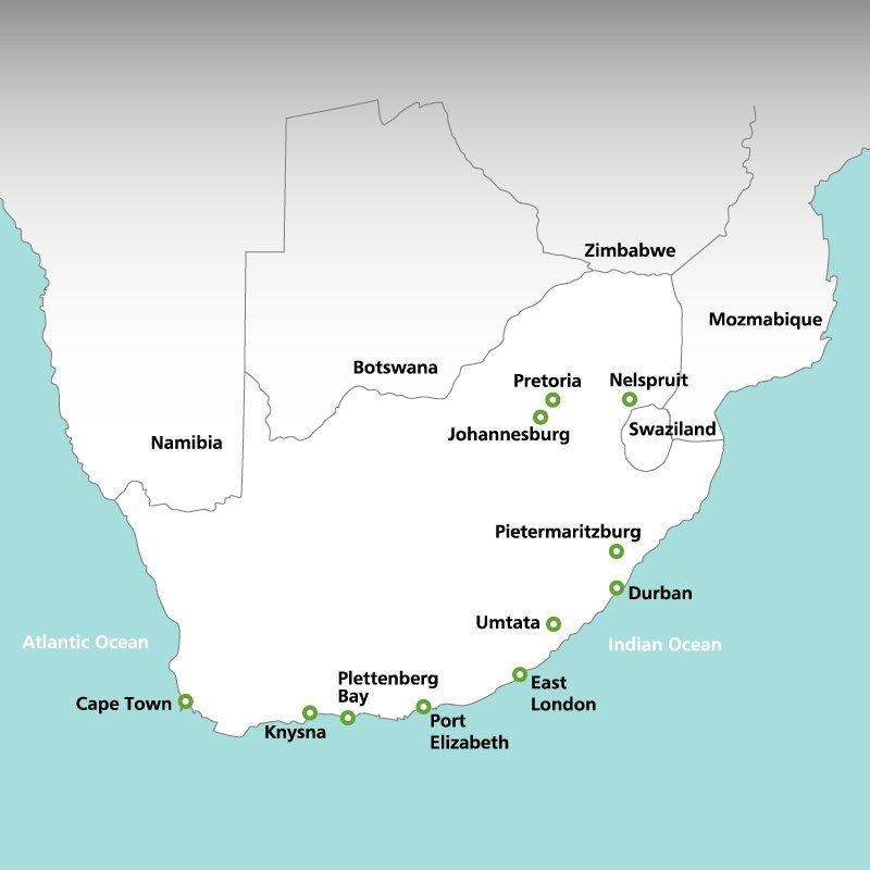 South Africa rainbow tours