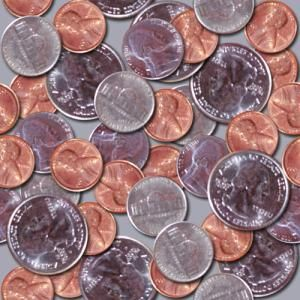 Coins seamless background image