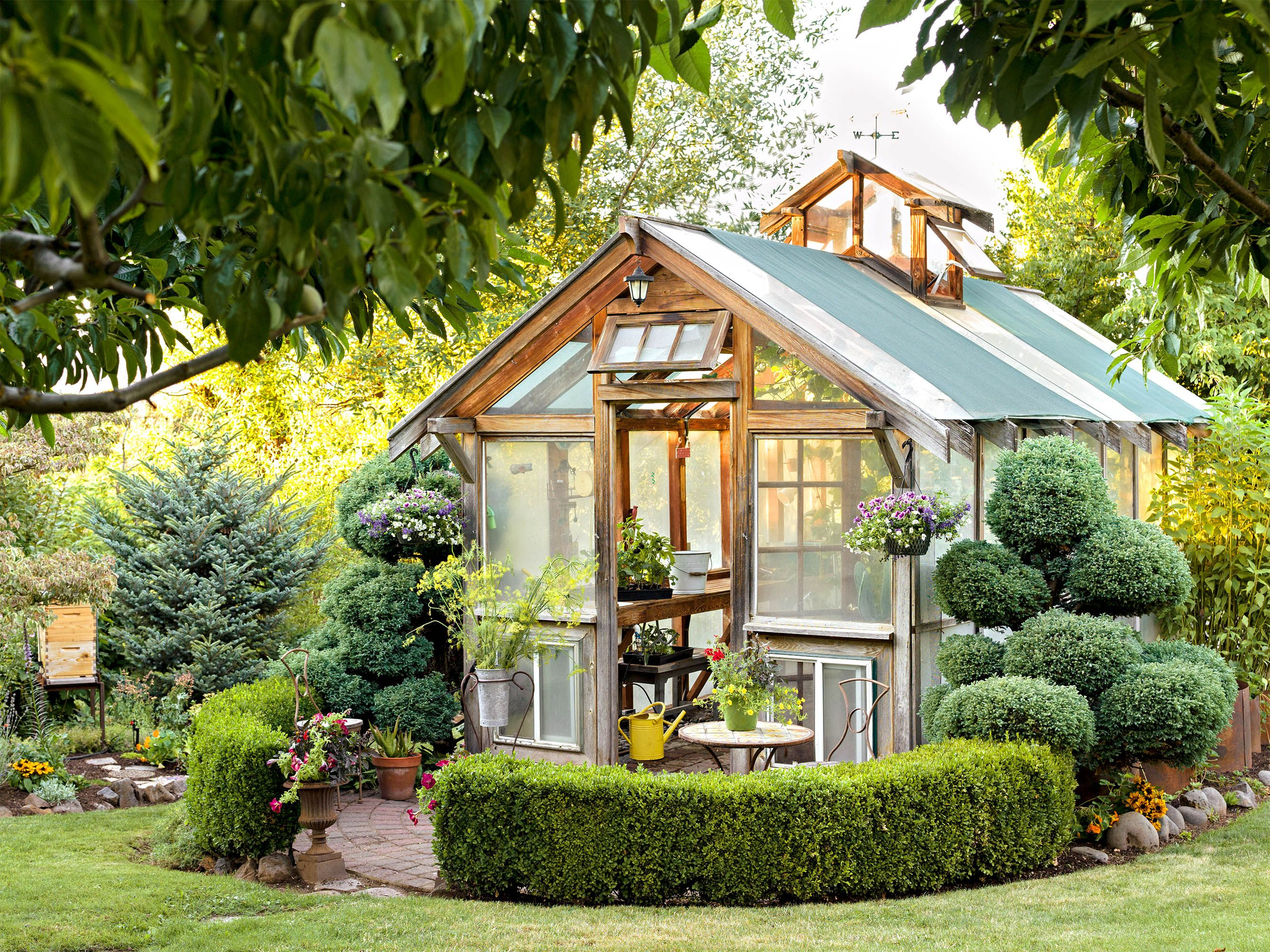 You Need To See These Stunning Backyard Greenhouses Painted