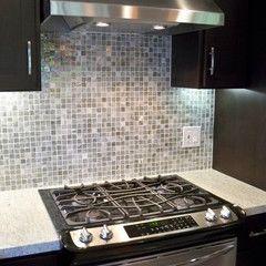 modern kitchen -tile backsplash