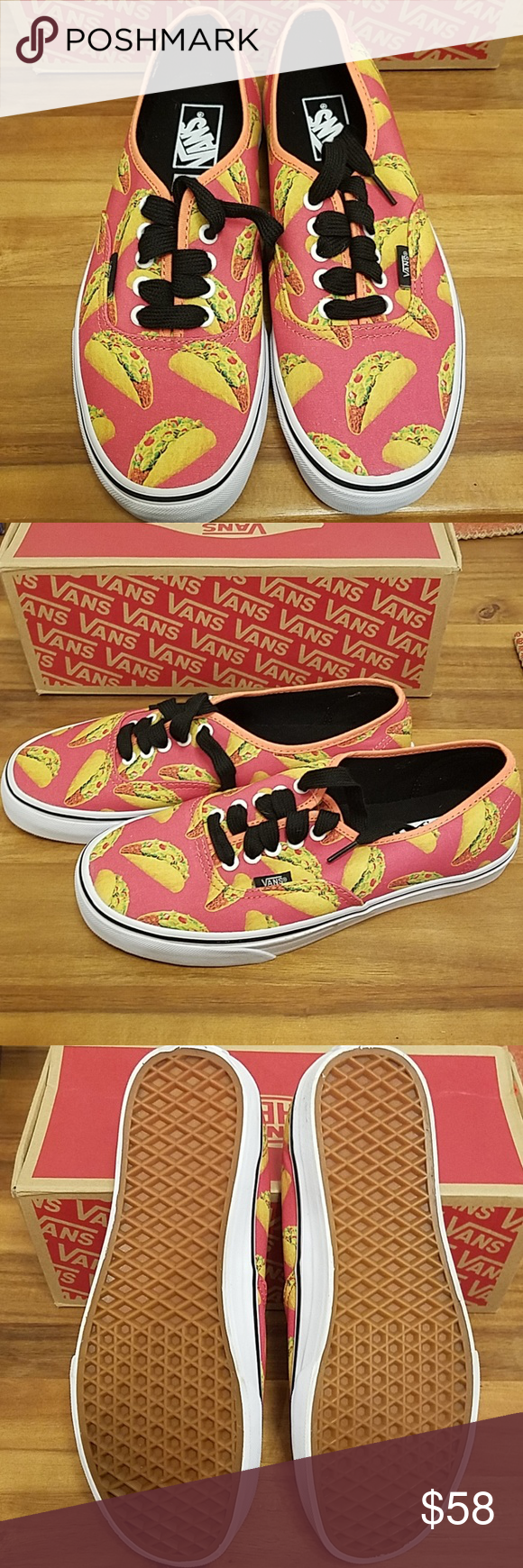 79f8844030ae Vans authentic taco sneakers New Authentic Vans coral taco sneakers mens  size 8 womens size 9.5 Vans Shoes Sneakers