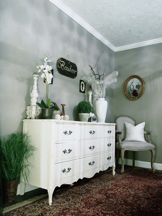 Stylish White Dresser With Perfectly Styled Accessories Shabby Chic Dresser White Dresser Home Decor Furniture White dresser glass doors wallpaper