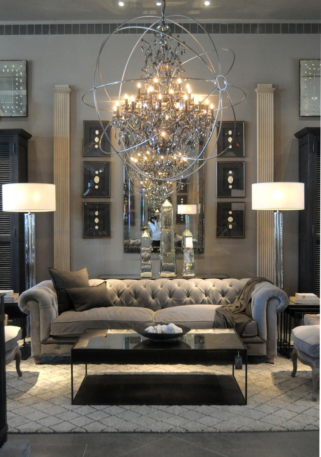 Modern Living Room Designs: 43 Modern Glam Living Room Decorating Ideas