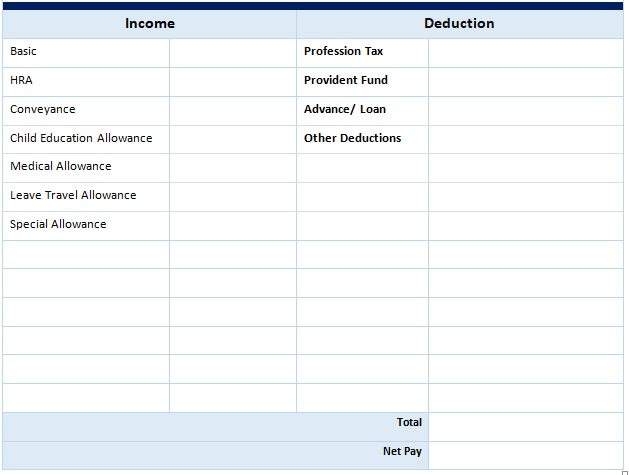 Salary Slip Format For Pvt Ltd Company E Salary Slip Salary Slip Format For Pvt Ltd Company In 2020