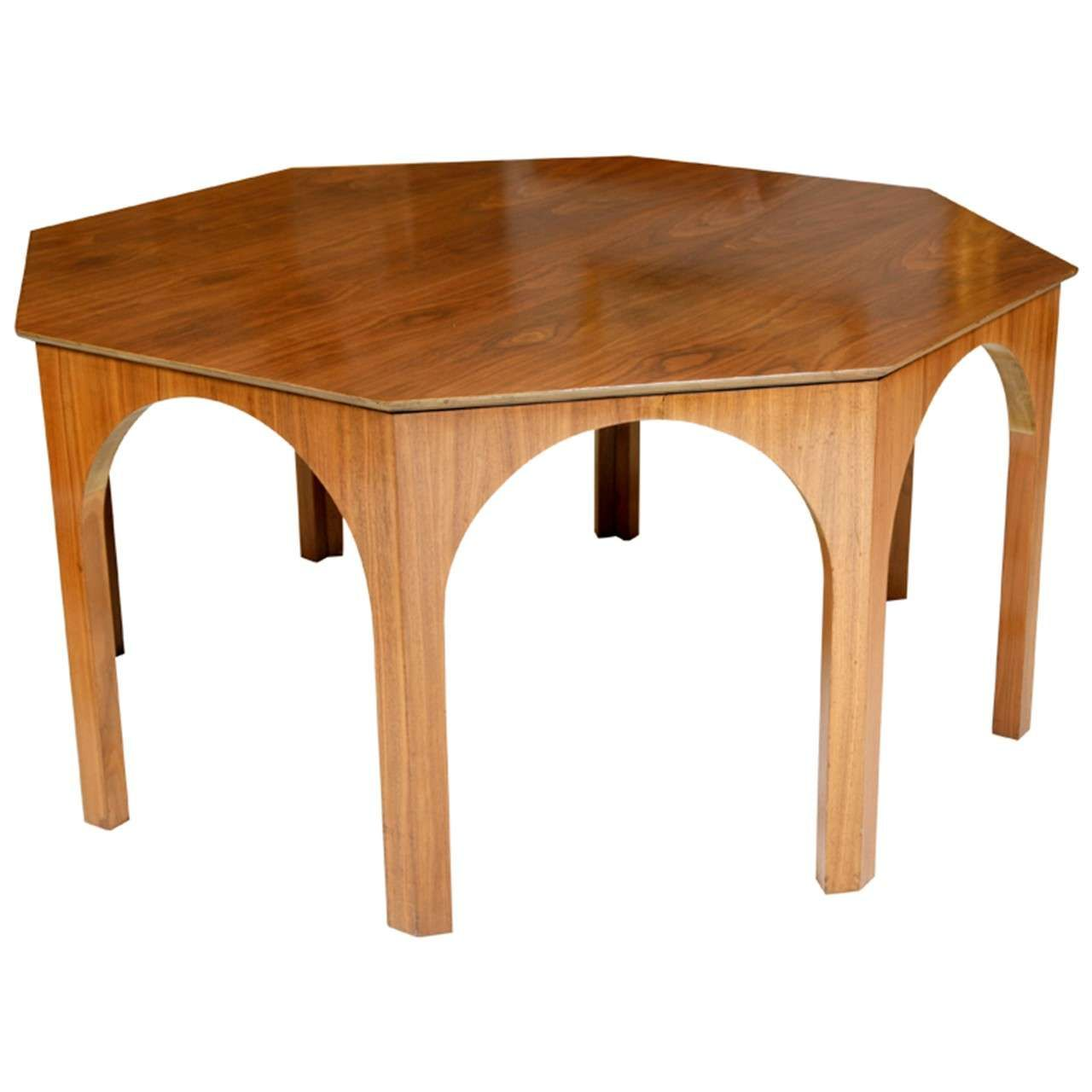 Octagonal Dining Centre Table By T H Robsjohn Gibbings 1stdibs Com Vintage Dining Room Table Coffee Tables For