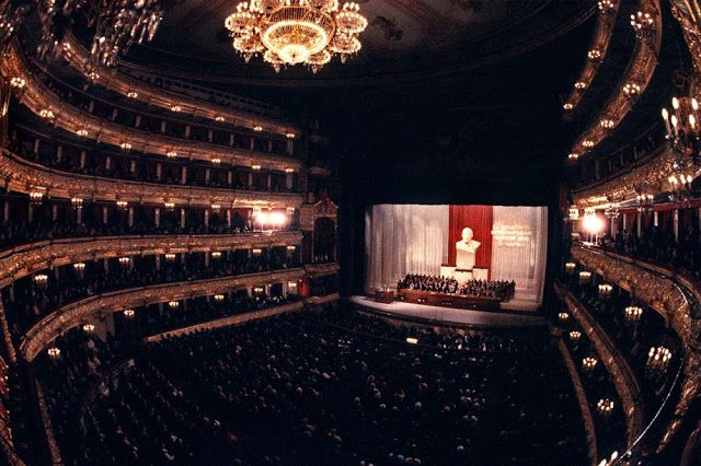 Women's day at the Bolshoi Theatre, Moscow, 1984