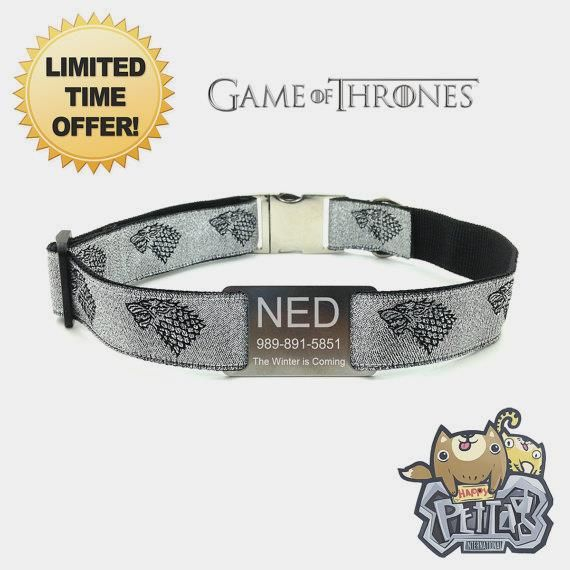 Personalized Game Of Thrones Dog Collar        >>>>> Buy it now    http://amzn.to/2d6rr7A