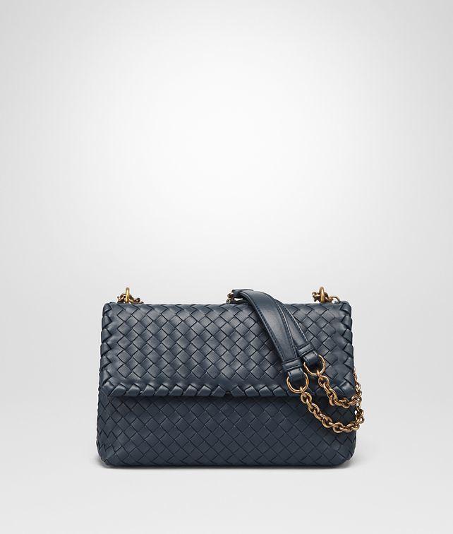 adcfb186eaf Bottega Veneta Designer Handbags - Small Olimpia Bag In Denim Intrecciato  Nappa Leather