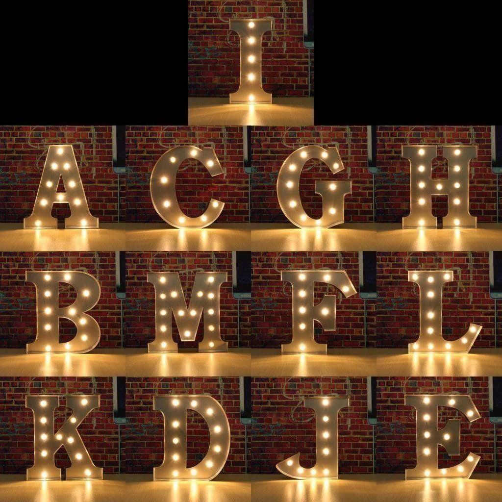 Details about Light Up Letter Wooden LED Alphabet Decoration