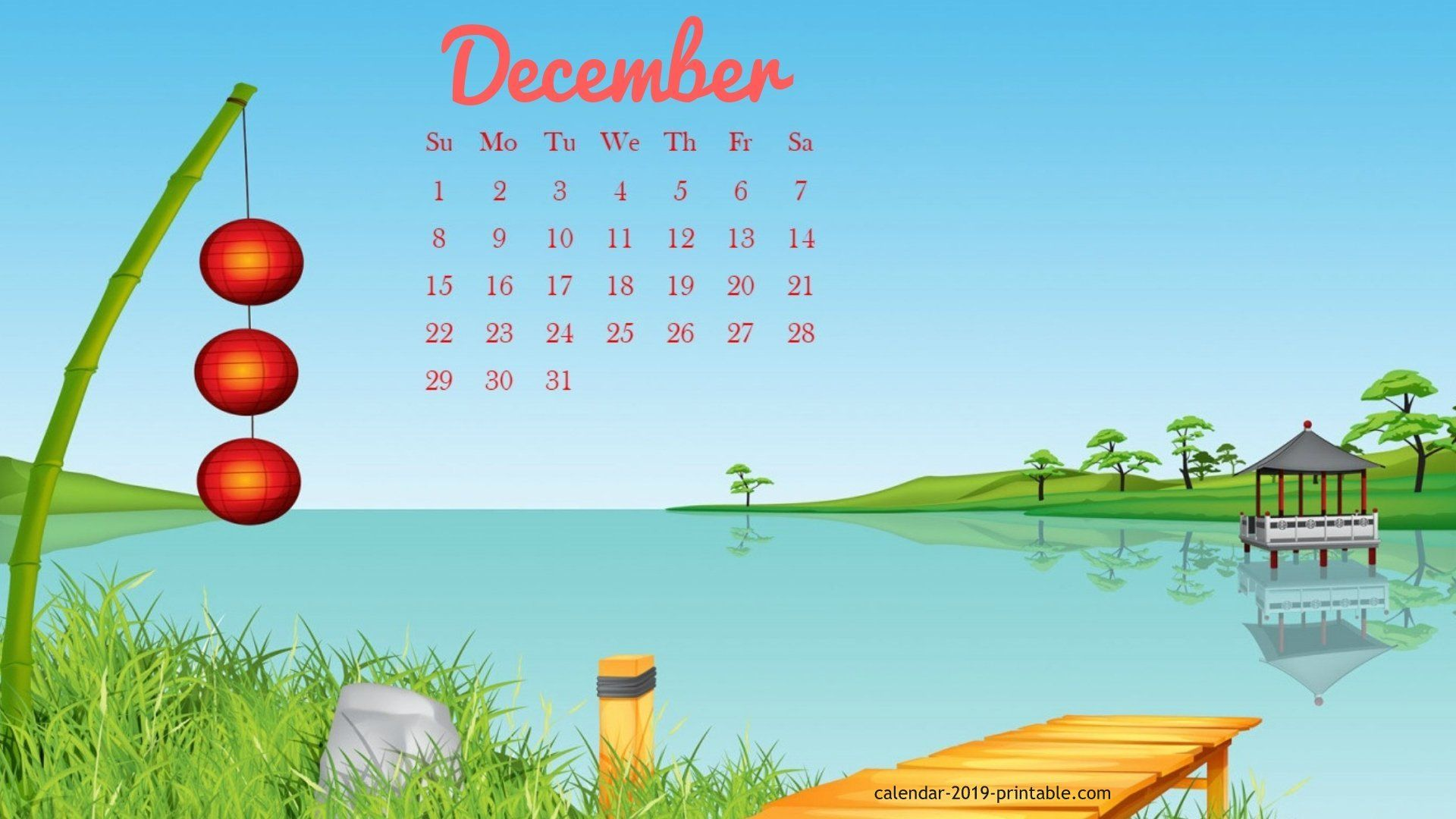 December 2019 Calendar Wallpaper Desktop december 2019 calendar wallpaper | 2019 Calendars | 2019 calendar