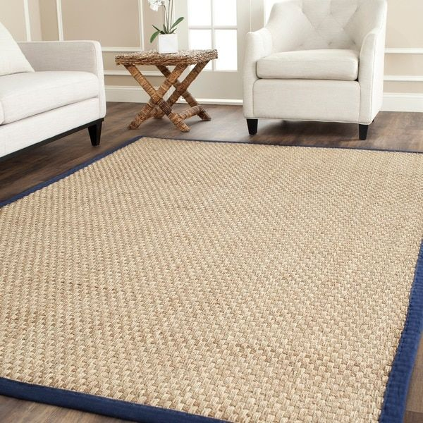 Safavieh Casual Natural Fiber Hand Woven Sisal Blue Seagr Area Rug 6 X 9